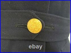 WWII Early Blue Army Nurse Women's Uniform Jacket (B-35.5 W-28) Vintage 1940s