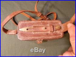 WWII Japanese Army Trench/Field Phone Head Set withProbe, Original Pouch withStrap