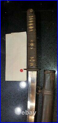 WWII Japanese Army officer's samurai sword shin gunto collectible with papers