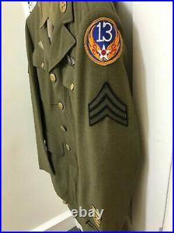 WWII U. S. Army Sergeant WWII Dress Uniform with Hat
