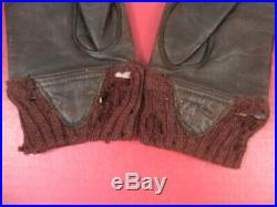 WWII US AAF Army Air Force Type A-10 Leather Flying Gloves Sz 9 Original #1