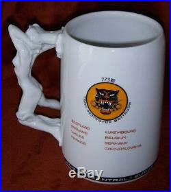 WWII US Army 773rd Tank Destroyer Battalion Stein with Original Owner's Name
