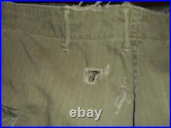 WWII US Army HBT Herringbone Twill Combat Trousers Pants 32x33 LARGE