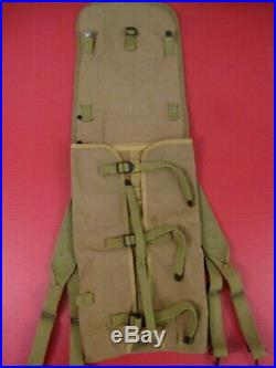 WWII US Army M1928 Haversack Pack Khaki Color Complete Dated 1942 XLNT #3