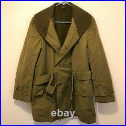 WWII US Army Mackinaw Cold Weather Coat 1st Pattern Dated 1944 Excellent