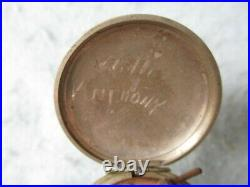 WWII US Army Officer Compass Pocket Watch Style Stamped Engineers 1917 Named WWI