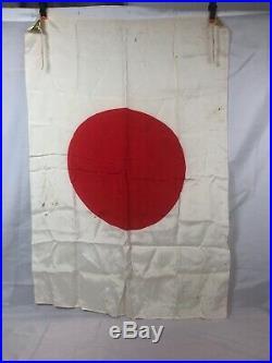 WWII WW2 Japanese Silk Flag, Original, Imperial, IJA, Army, 38x27, Vintage, War
