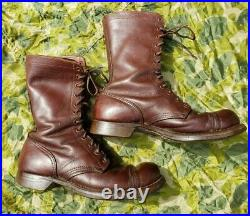 WWII WW2 Original US Army Paratrooper Airborne Jump Boots Pair-A-Trooper