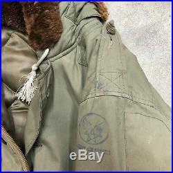 WWII WW2 Parka Coat B-9 Jacket Flight Army Air Corps Eddie Bauer Vintage