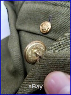 WWII WW2 US Dress up Uniform, Original, Wool, Army, Infantry, Coat, Jacket, Military