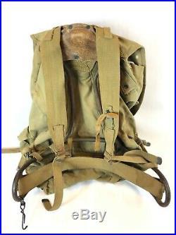 WWII WW2 US U. S. Backpack, Original, Army, Military, Bag, Rucksack, Frame, Field, Sack