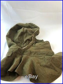 WWII WW2 US U. S. Gas Mask Hood, Original, Rare, Military, Army, Military, Vintage, War