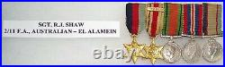 Ww 2 Australian Army El Alamein Medal Group Of (5+) Named, Researched