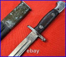Ww1 Ww2 British 303 Rifle Bayonet Scabbard Sword Army 1907 Wilkinson 1917