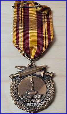 Ww2 1940 Dunkirk Association War Service Medal British French Belgium Army Navy