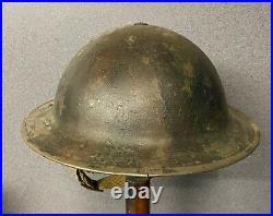 Ww2 British Army Steel Helmet, Khaki & Camouflage Original + Liner & Strap