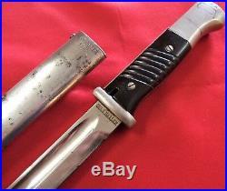 Ww2 German Army K98 Bayonet & Scabbard Matching Parade Gebruder Heller 1938