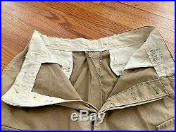 Ww2 U. S. Army Trousers M43 Airborne Paratrooper Reinforced Vintage. Orig