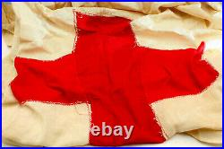 Wwii American Red Cross Wac Us Army Hospital Medic Flag Linen Dated And Rare