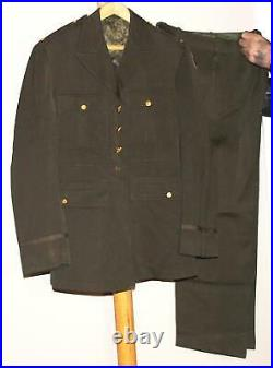Wwii Us Army Air Force Usaaf Officer's Dark Olive Drab Tunic And Trousers