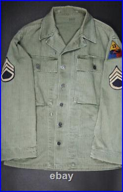Wwii Us Army Hbt Jacket, Nco, 13th Armored DIV